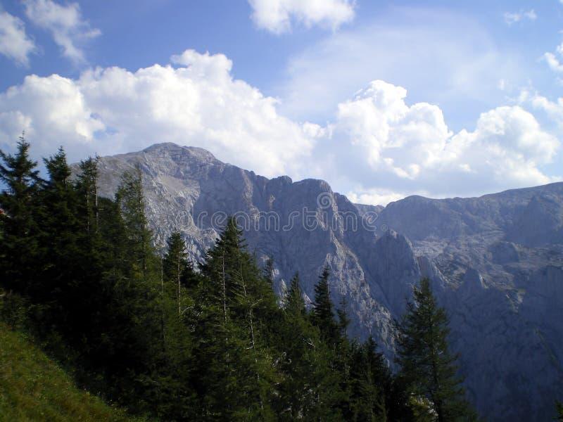 Mening van Untersberg stock fotografie