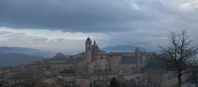 Mening van Urbino, Itali? stock afbeelding