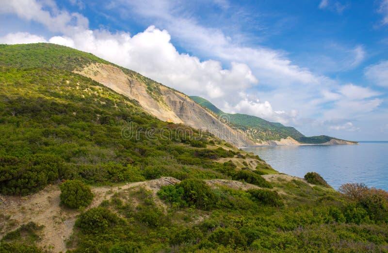 Mening van Utrish-Natuurreservaat van de Kaukasus en de Zwarte Zee, Krasnodar-gebied, Rusland royalty-vrije stock afbeeldingen