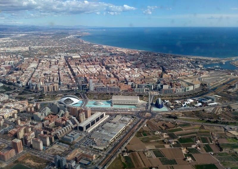 Mening van Valencia royalty-vrije stock afbeelding