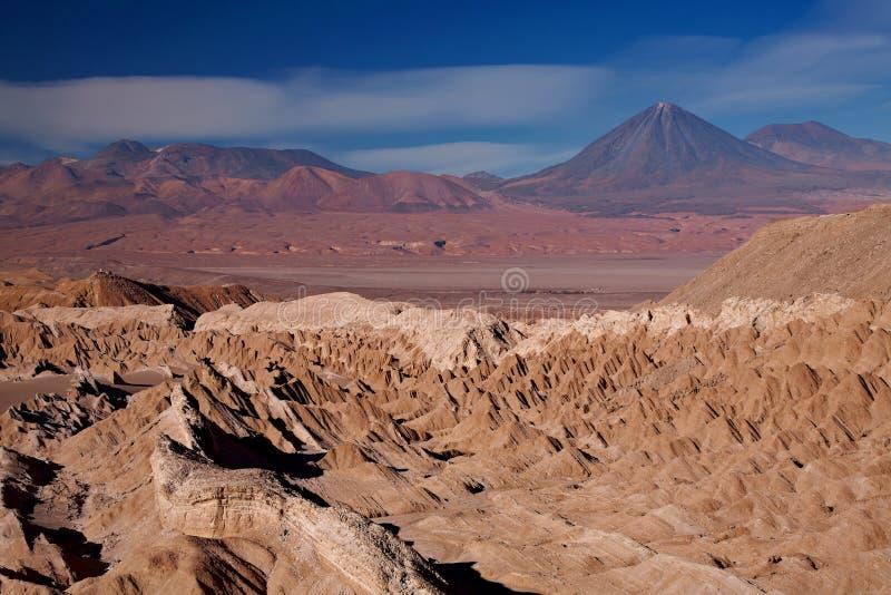 Mening van Valle DE La Muerte (de Vallei van de Dood), Chili royalty-vrije stock foto's