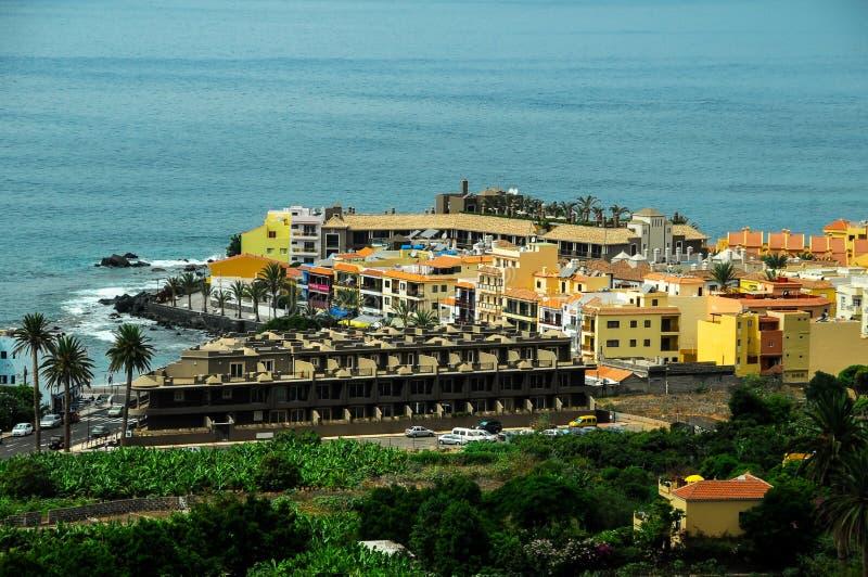 Mening van Valle Gran Rey La Gomera royalty-vrije stock fotografie