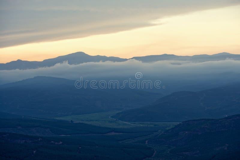 Mening van vallei dichtbij Sabie, Zuid-Afrika stock foto's