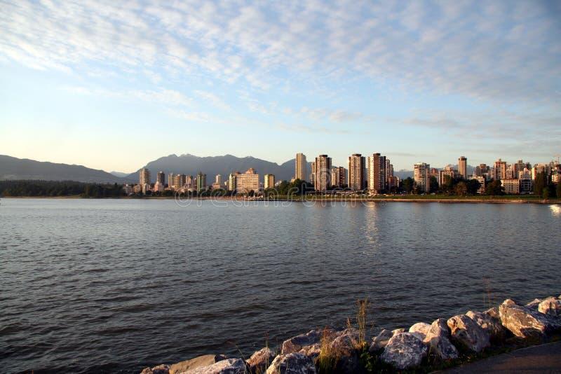Mening van Vancouver van de binnenstad stock foto