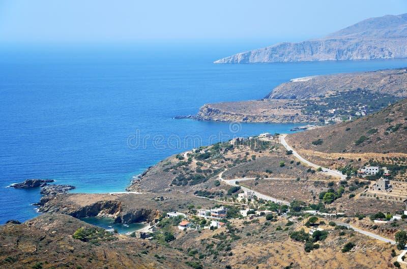 Mening van Vathia Mani, Griekenland royalty-vrije stock afbeeldingen
