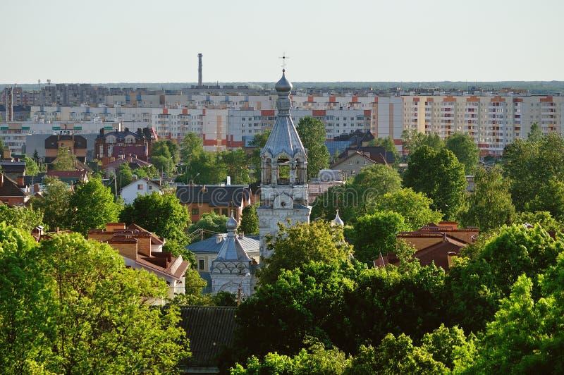 Mening van Veliky Novgorod van een hoogte royalty-vrije stock foto