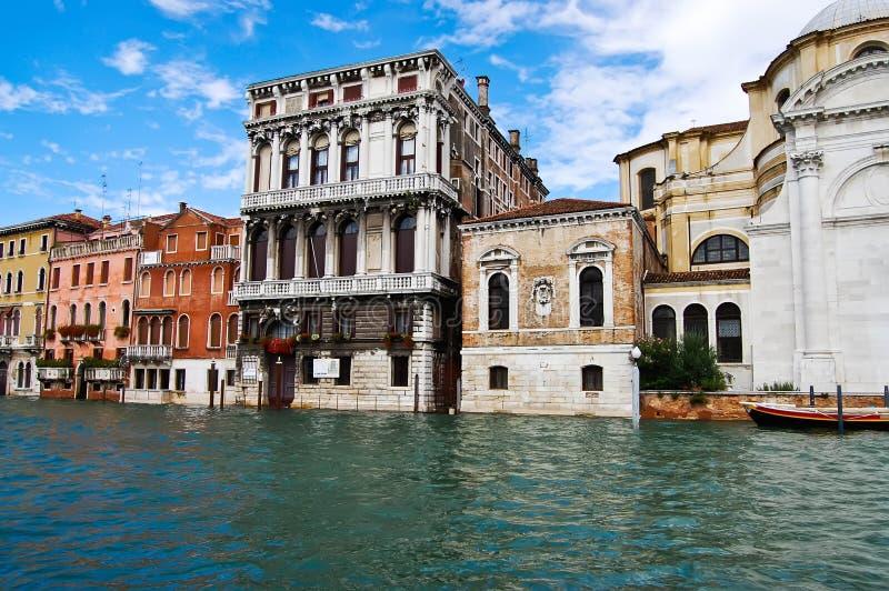 Mening van Venetië 's Grand Canal, Venetië, Italië stock foto