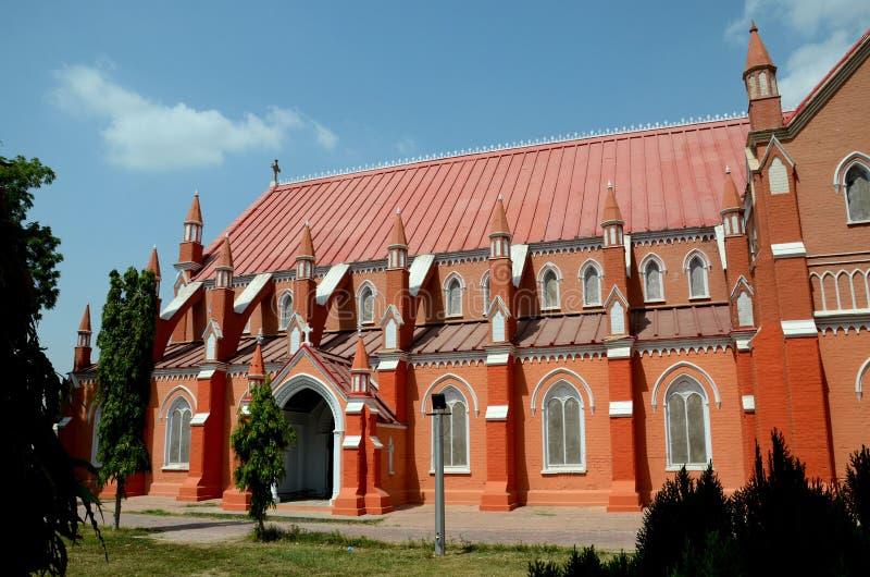 Mening van vernieuwde St Mary de Maagdelijke Kerkkathedraal Multan Pakistan stock foto
