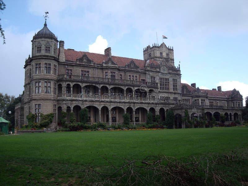 Mening van Viceregal Loge nu als Instituut van Vooruitgangsstudies wordt bekend, Shimla, Himacal Pradesh, India dat stock fotografie
