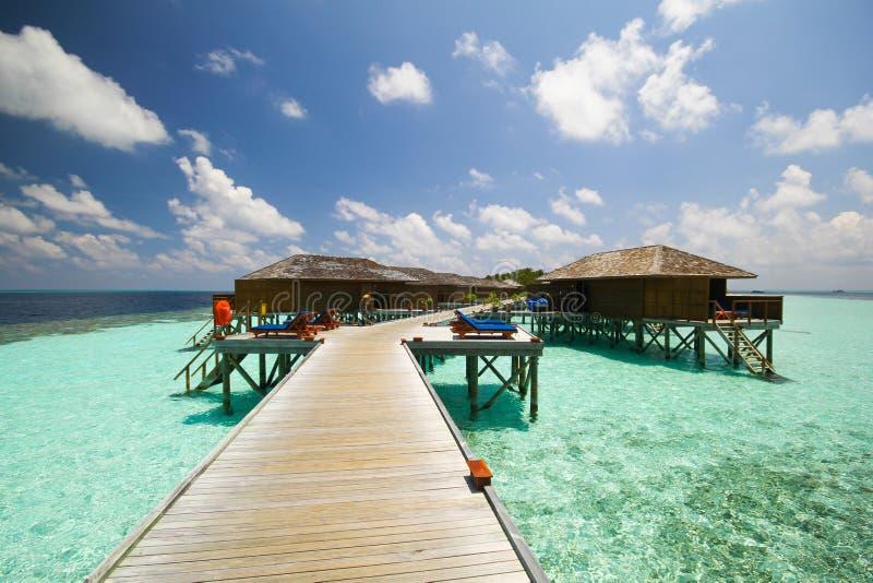 Mening van vilamendhooeiland de Maldiven stock afbeelding
