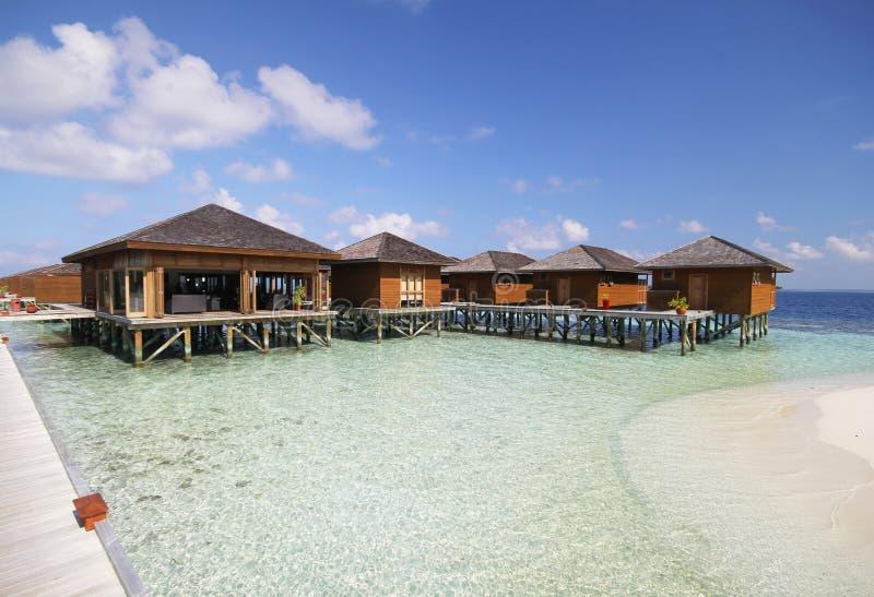 Mening van vilamendhooeiland de Maldiven stock foto's