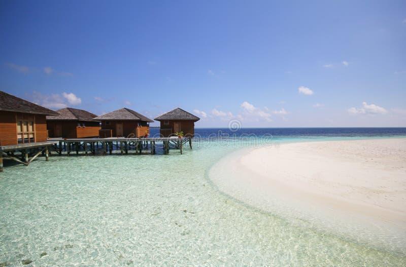 Mening van vilamendhooeiland de Maldiven stock afbeeldingen