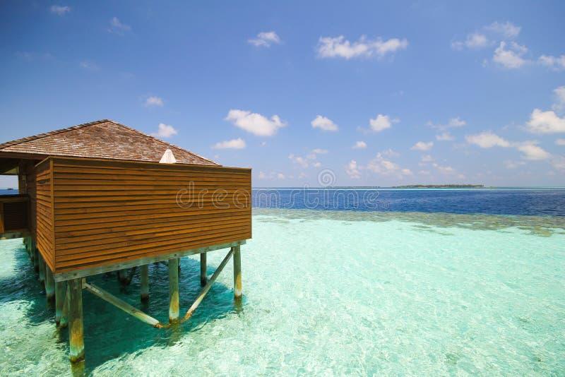 Mening van vilamendhooeiland de Maldiven royalty-vrije stock afbeelding