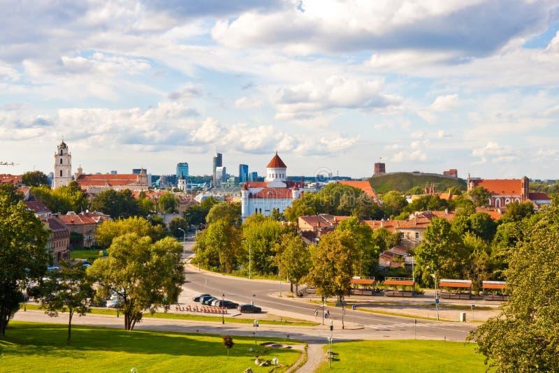 Mening van Vilnius royalty-vrije stock fotografie