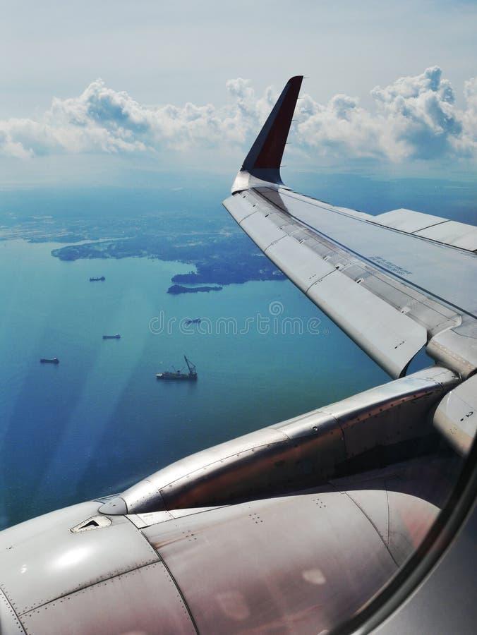 Mening van vliegtuig stock afbeeldingen