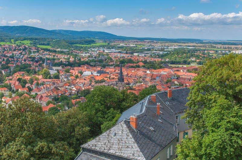 Mening van Wernigerode-Kasteel stock foto