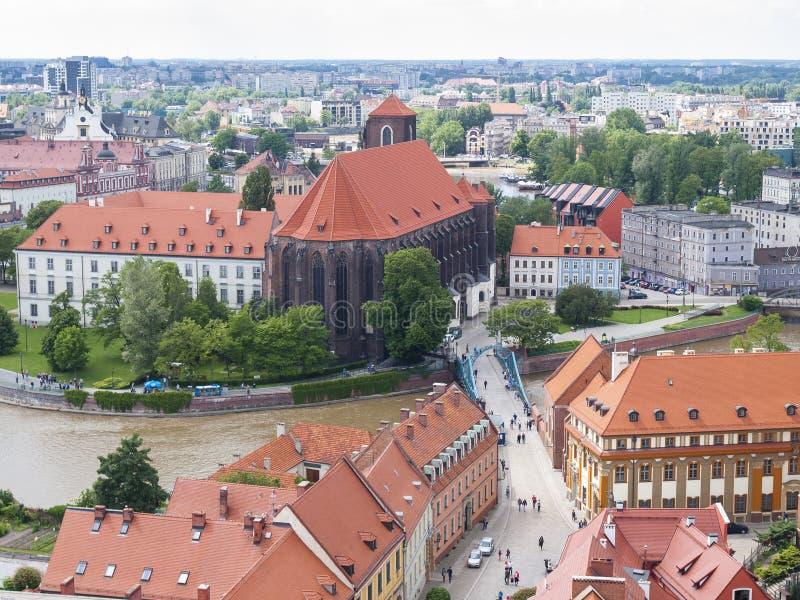 Mening van Wroclaw stock foto