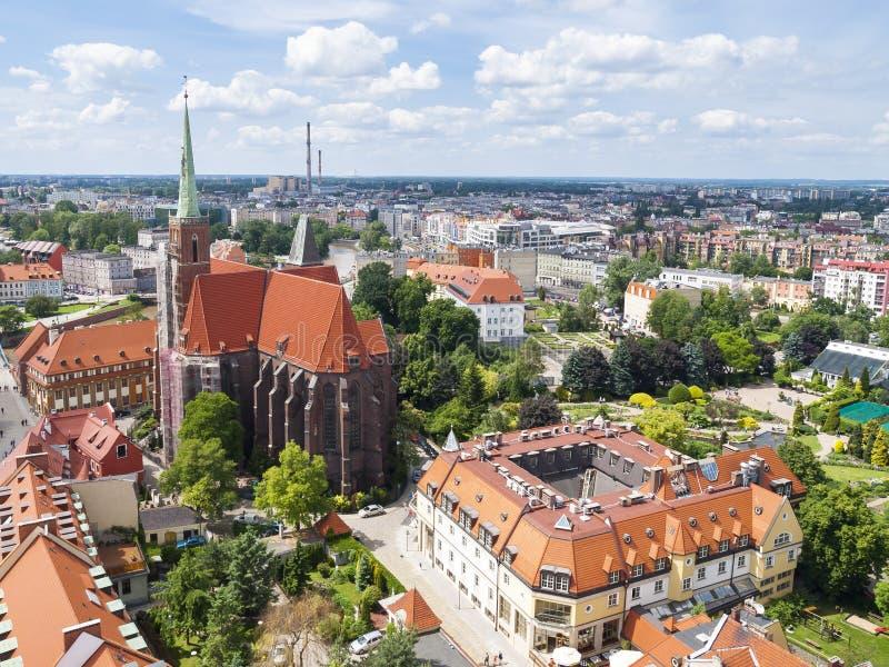 Mening van Wroclaw royalty-vrije stock foto's