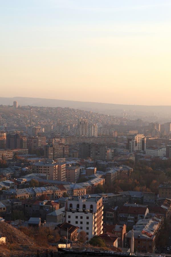 Mening van Yerevan stad stock foto's