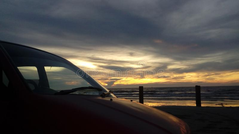 Mening van zonsondergang stock afbeeldingen