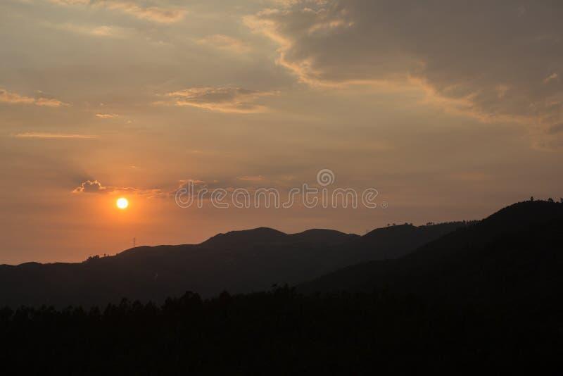 Mening van zonsondergang stock fotografie