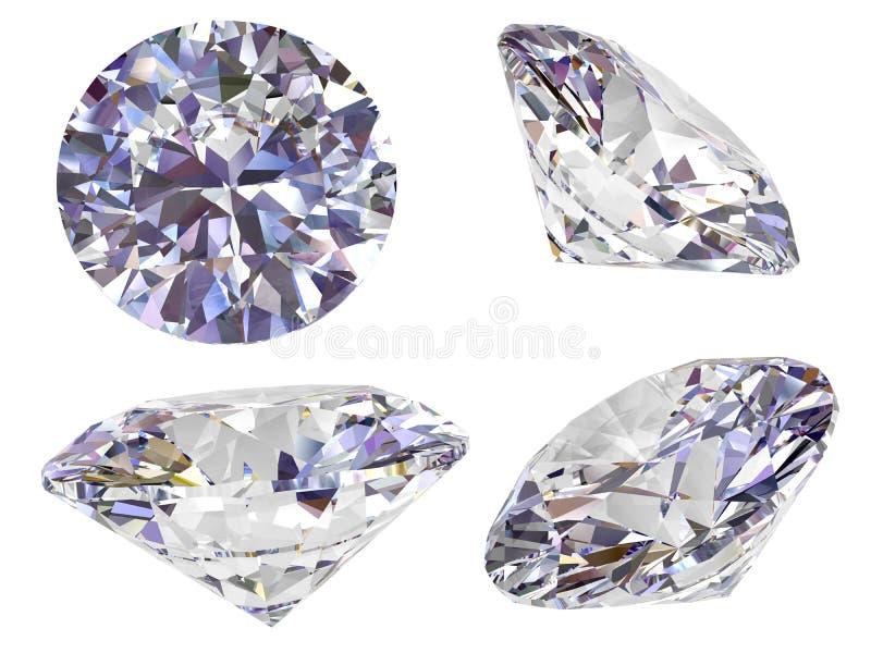 Mening vier van diamant die op wit wordt geïsoleerdi vector illustratie