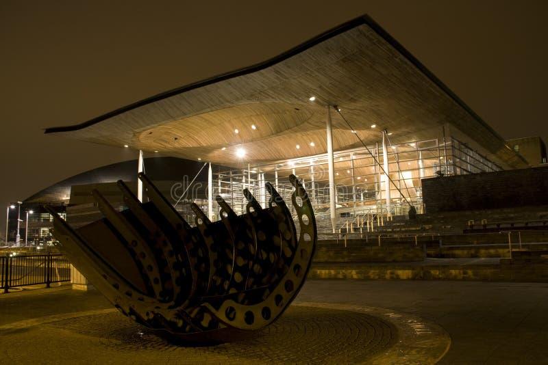 Meningen rond de Baai van Cardiff stock foto's
