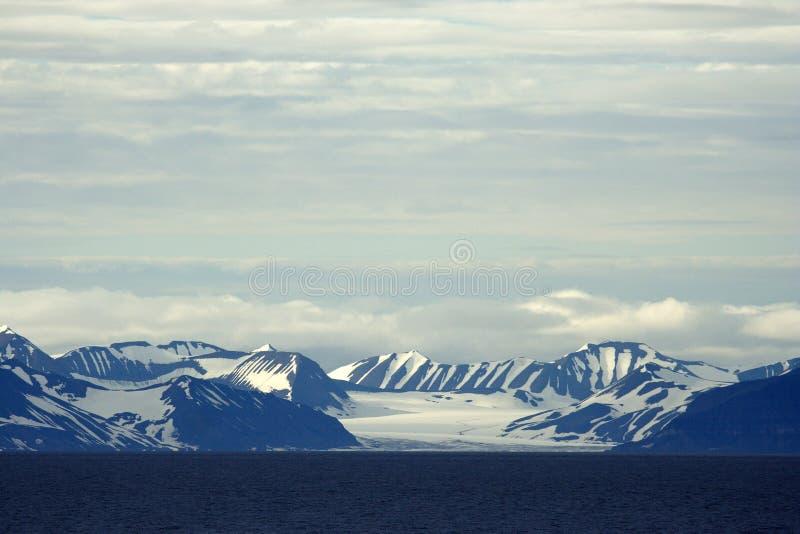 Meningen rond Svalbard royalty-vrije stock afbeelding