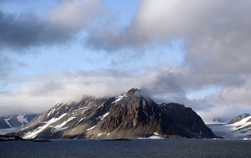 Meningen rond Svalbard royalty-vrije stock foto's