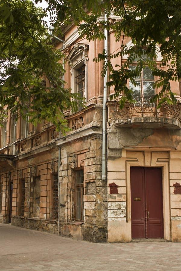 Meningen van de oude deuren Odessa, de steden van de Oekraïne, reis aan Oost-Europa royalty-vrije stock foto