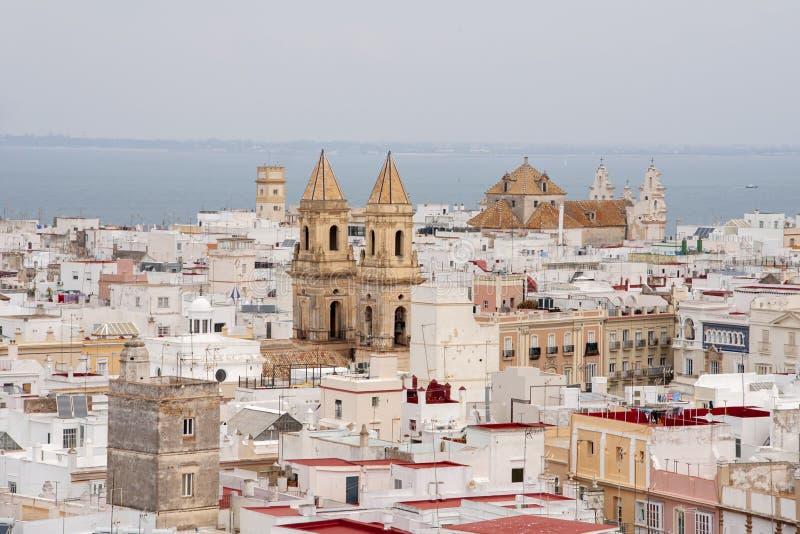 Meningen van de stad van Cadiz, Andalusia royalty-vrije stock fotografie