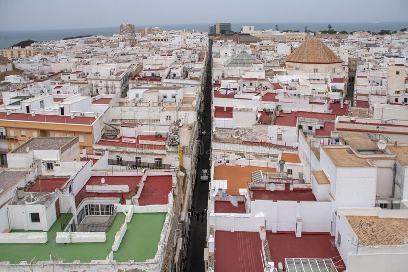 Meningen van de stad van Cadiz, Andalusia royalty-vrije stock afbeeldingen