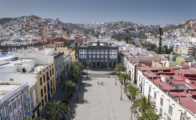Meningen van de stad van Las Palmas de Gran Canaria royalty-vrije stock fotografie