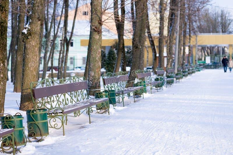 Meningen van de winterpark royalty-vrije stock afbeelding