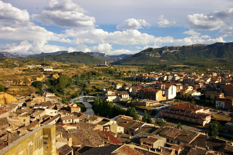 Meningen van een oude stad in Catalonië royalty-vrije stock afbeeldingen