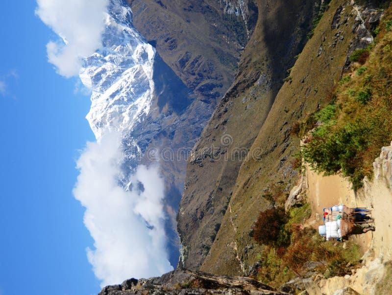 Meningen van het Himalayagebergte royalty-vrije stock foto's