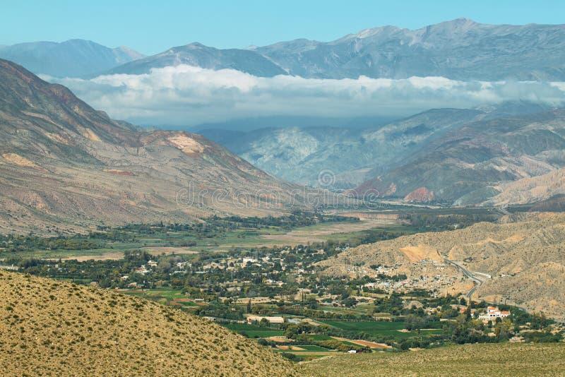 Meningen van kleurrijke bergen van Tilcara royalty-vrije stock fotografie