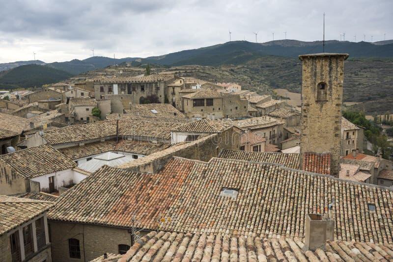 Meningen van Sos del Rey Catolico stock fotografie