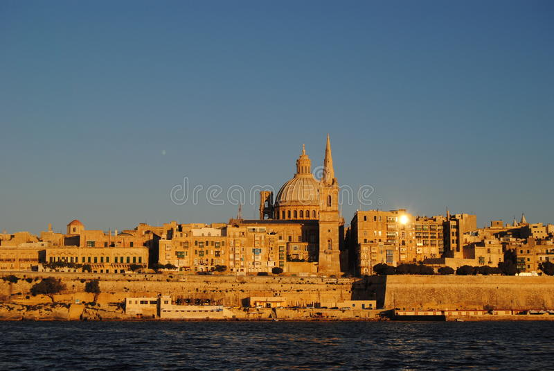 Meningen van Valletta, Maltees kapitaal royalty-vrije stock foto's