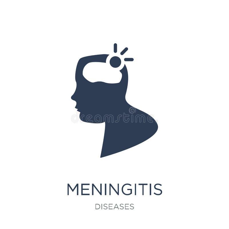 Meningitisikone Modische flache Vektor Meningitisikone auf weißem BAC vektor abbildung