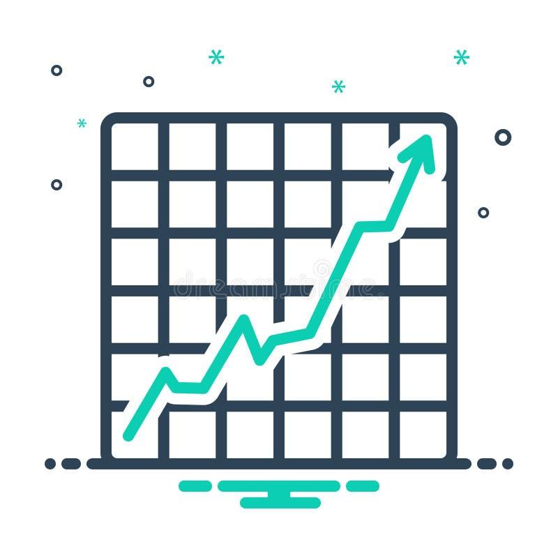 meningspictogram voor het verhogen van Voorraden Grafisch, grafiek en verhoging stock illustratie