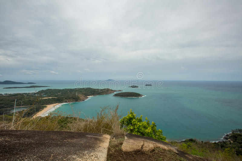 Meningspunt van de Dam van Pha Hin, Phuket, Thailand stock foto's
