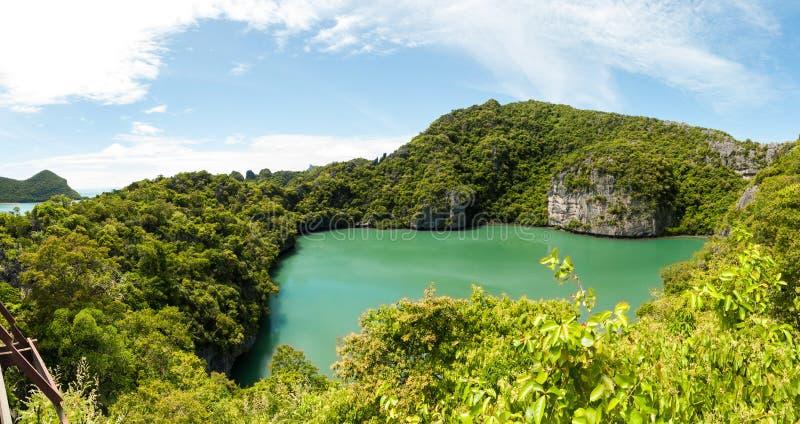 Meningspunt van het nationale park van Ang Thong Islands, Thailand stock foto