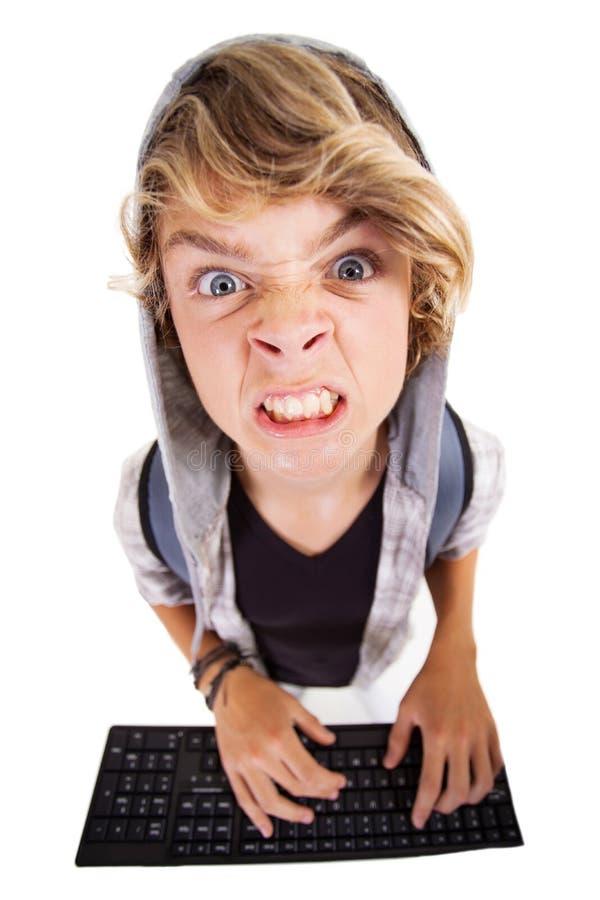 Menino adolescente irritado imagem de stock royalty free