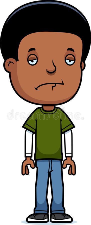 Menino adolescente triste ilustração stock