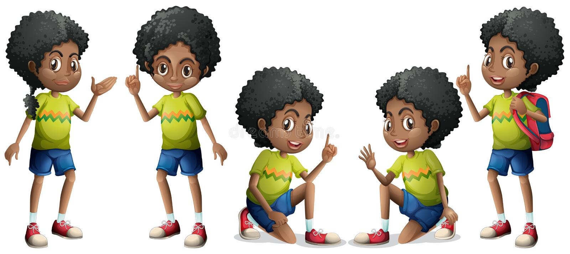 Menino africano ilustração stock