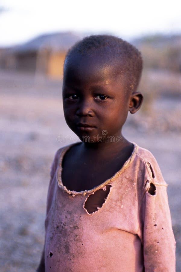 Menino africano foto de stock