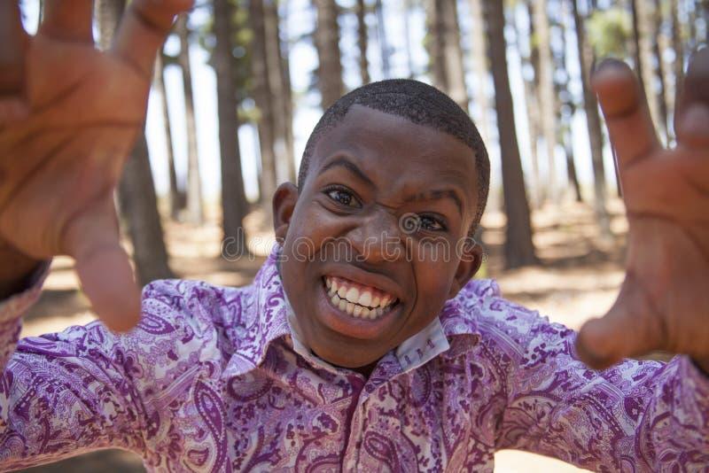 Menino africano adolescente fotos de stock royalty free