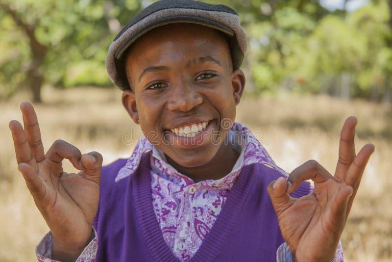 Menino africano adolescente foto de stock
