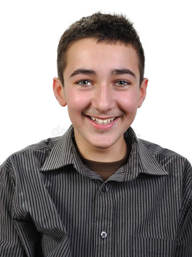 Menino alegre do adolescente fotografia de stock royalty free